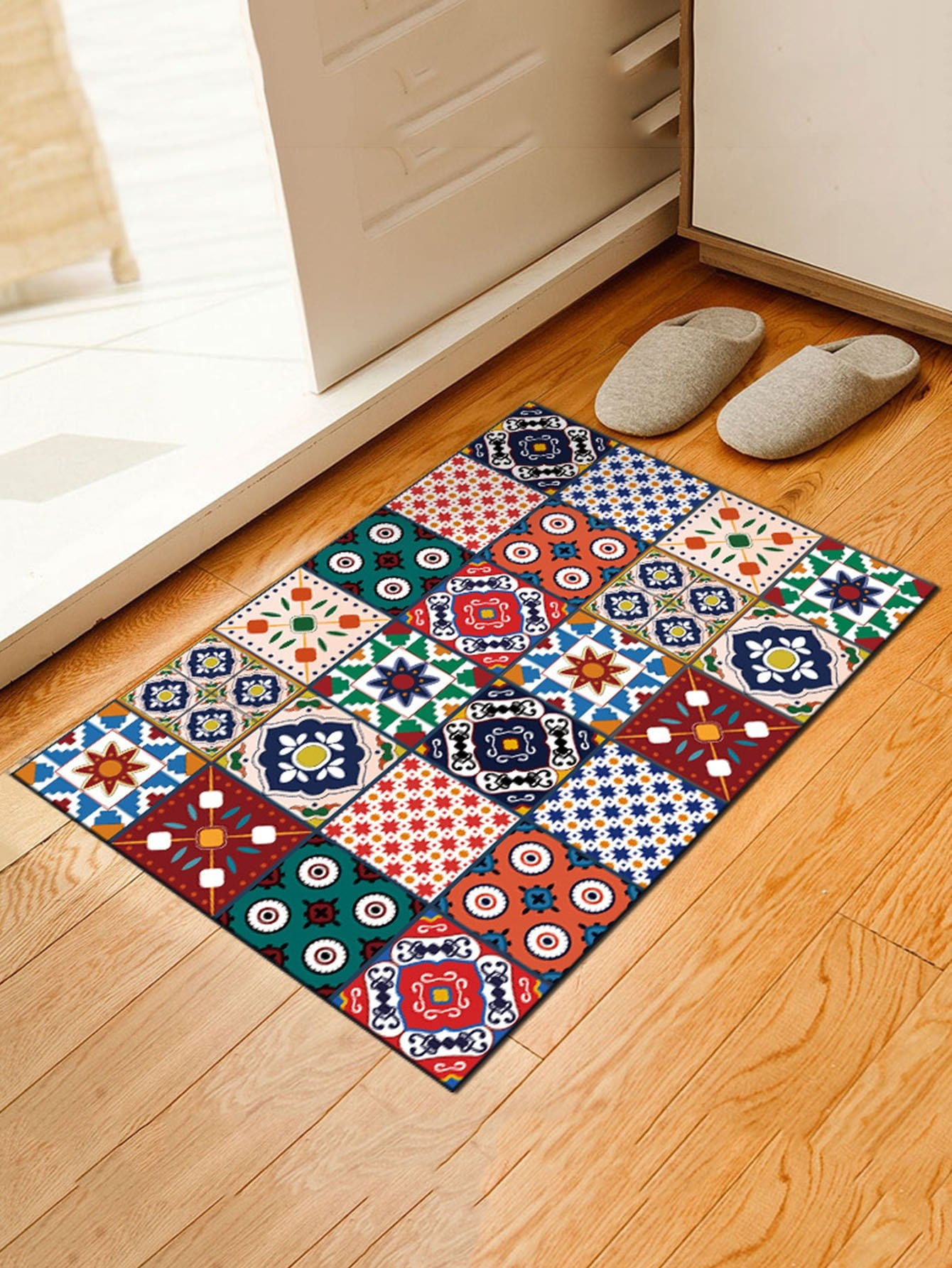 Geometric Patchwork Mat patchwork door mat