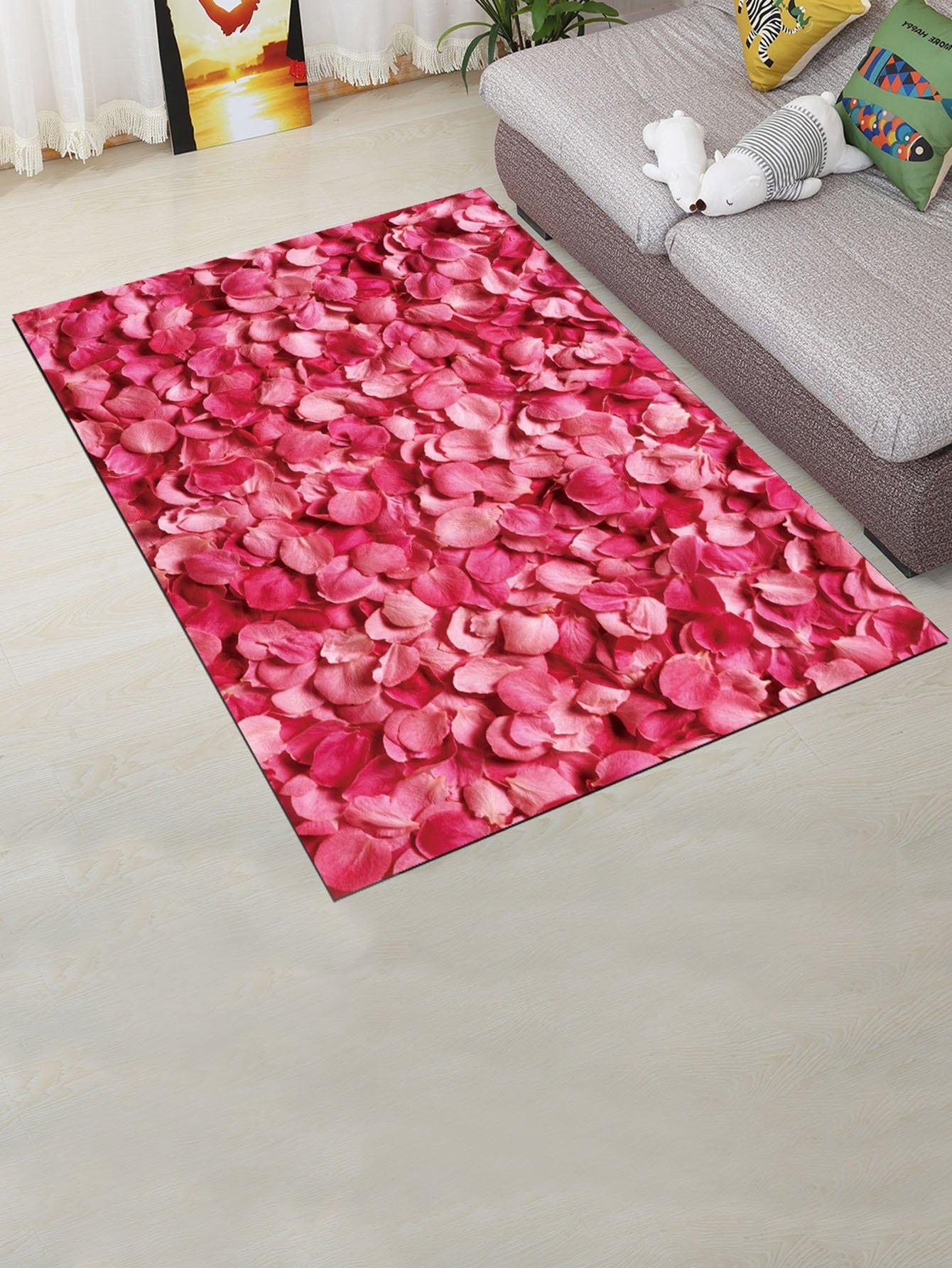Petal Overlay Mat feather overlay print door mat