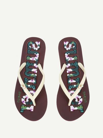 446ea83d12eb1 Flower Detail Toe Post Slippers