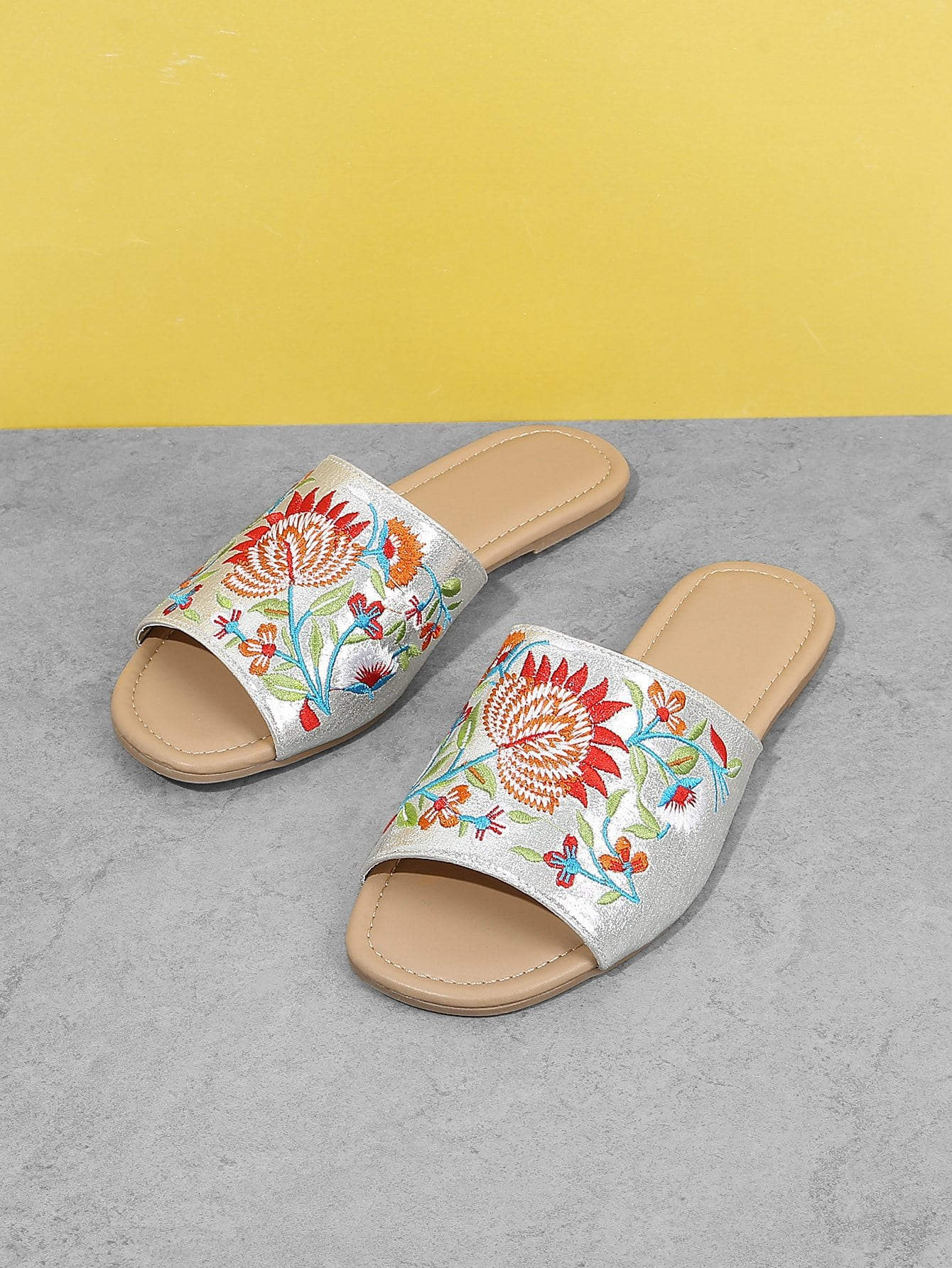 Flower Embroidered Flat Sandals women mary janes chinese embroidered flower flat shoes linen loafers