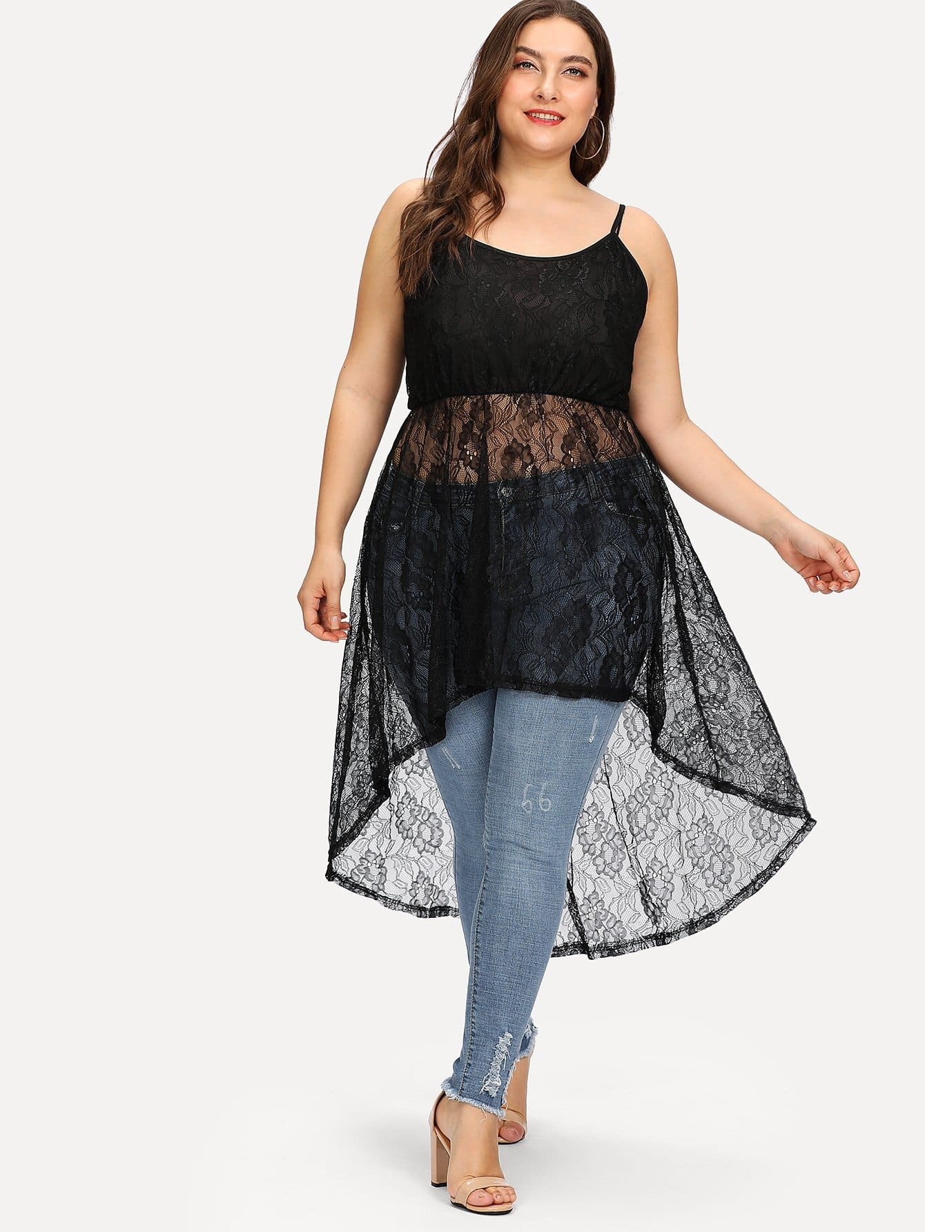 Lace Hollow Out Cami Top crochet lace hollow out cami top