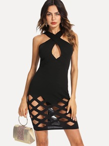 Hollow Out Halter Dress