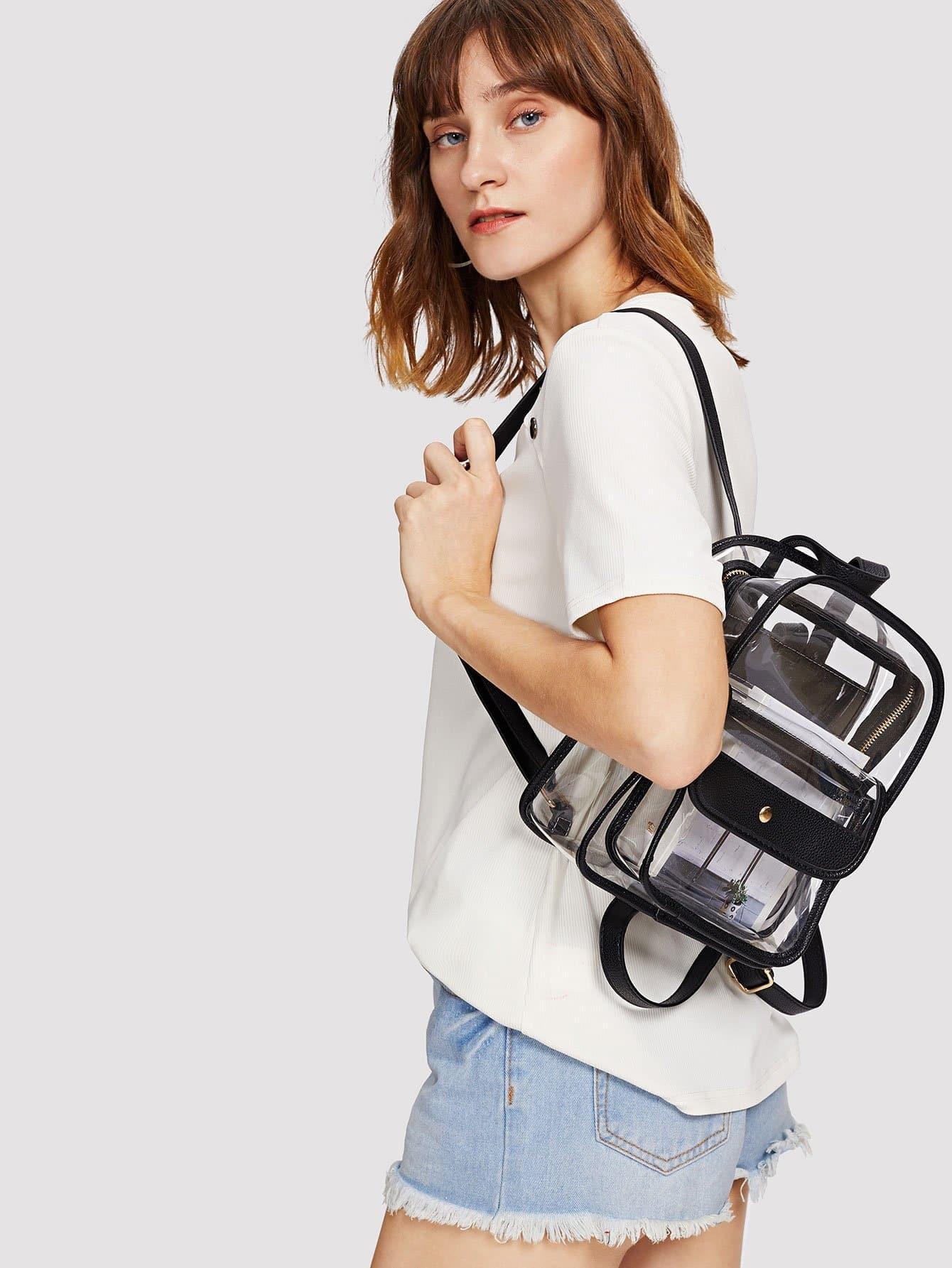Pocket Front Clear Design Backpack clear design backpack