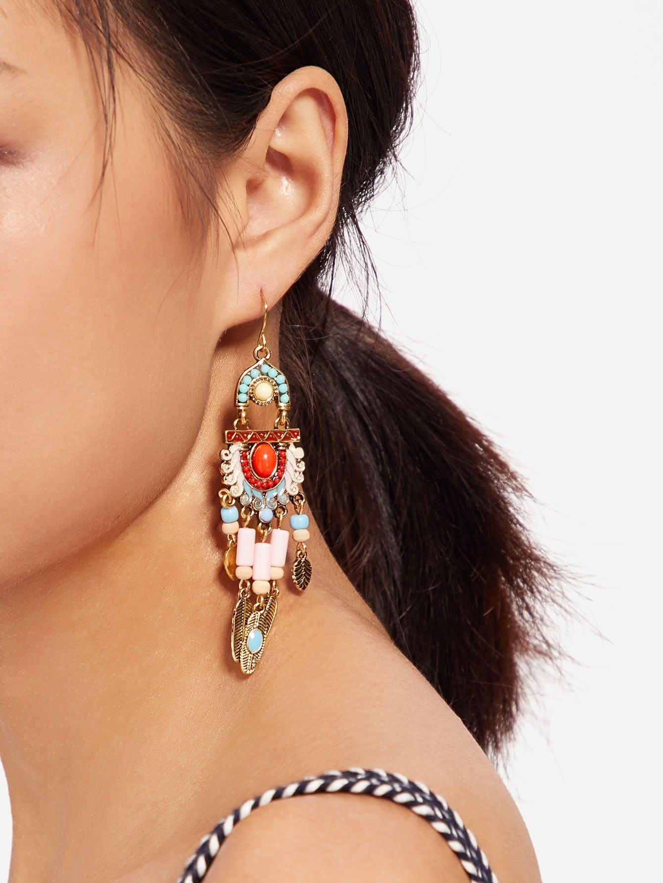 Tribal Tassel Statement Earrings