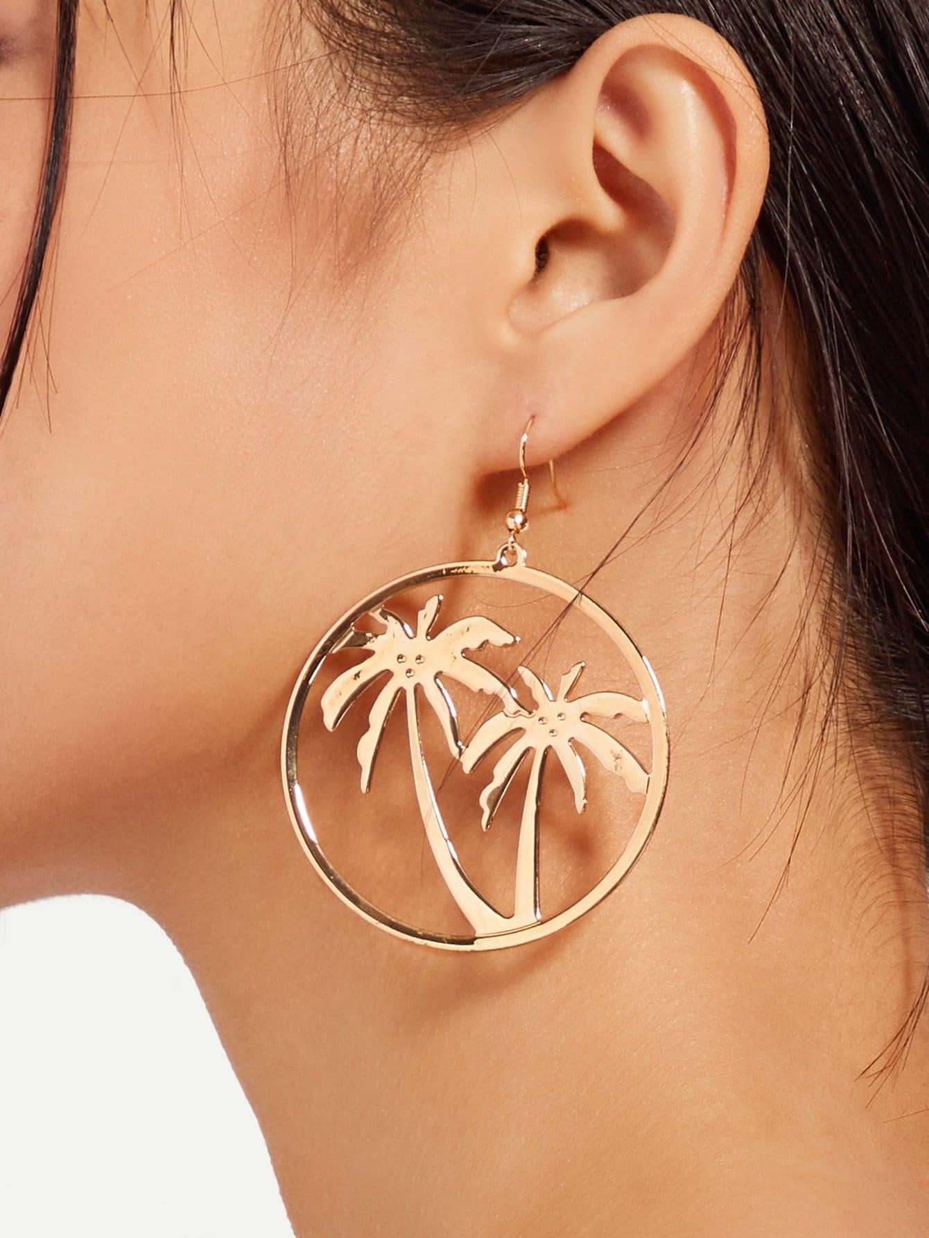 Open Hoop Drop Earrings bow detail hoop drop earrings