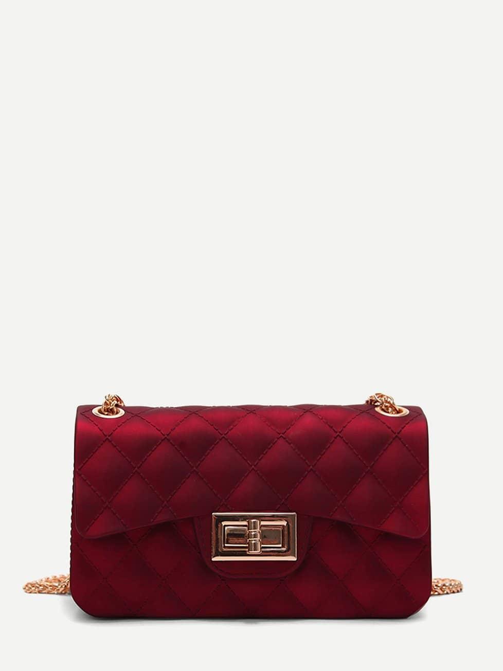 Twist Lock Quilted Chain Bag 120cm 47 bronze twist o ring bag chain diy metal purse strap 20pcs freeshipping