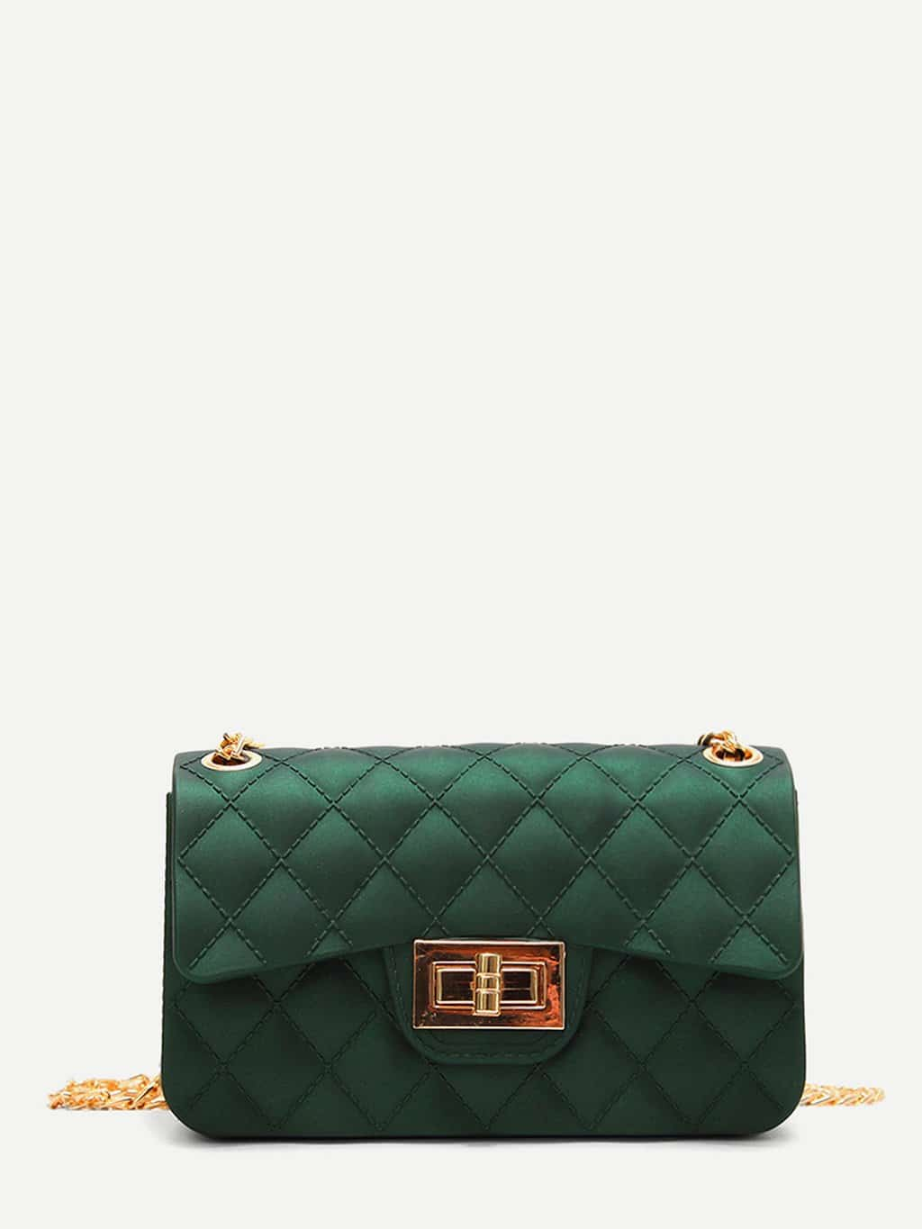 Twist Lock Quilted Chain Bag metal lock quilted chain bag