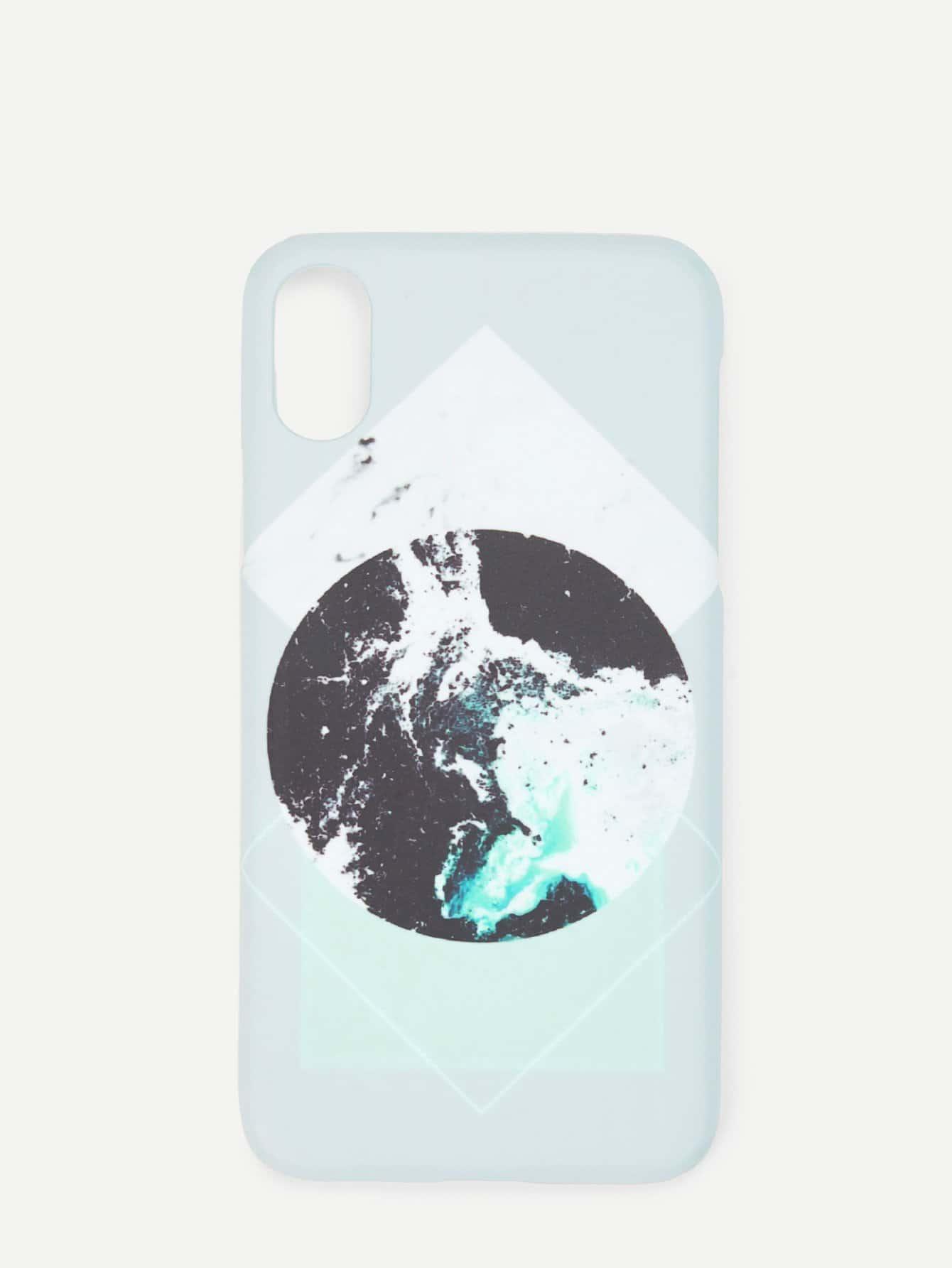 Купить Контрастный шаблон iPhone Case, null, SheIn