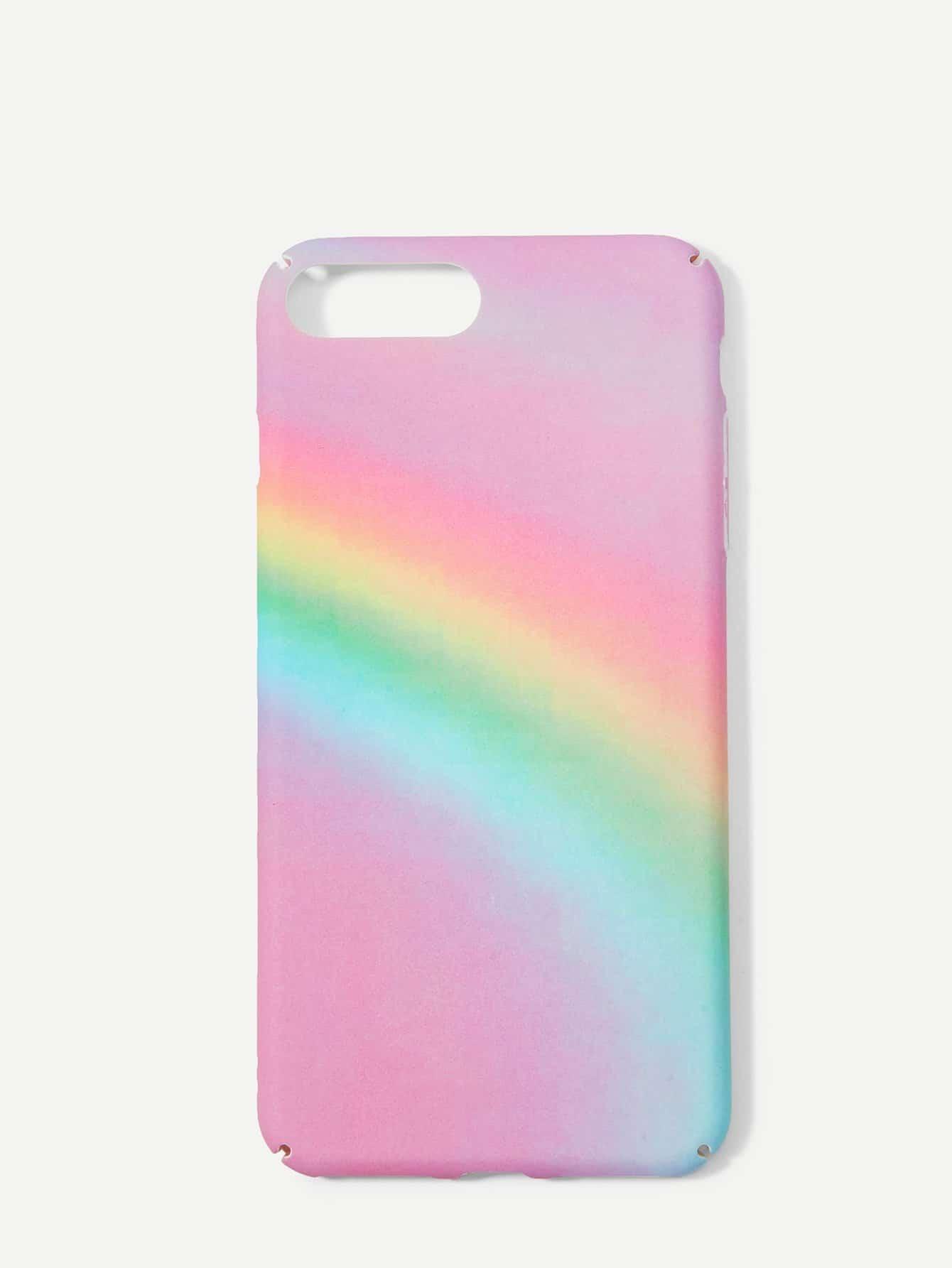 Купить Радужный шаблон iPhone Case, null, SheIn