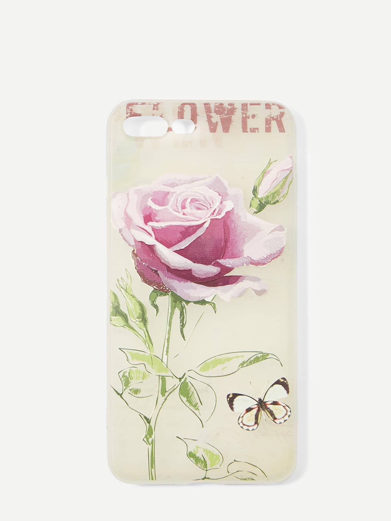 Купить Розовый шаблон iPhone Case, null, SheIn