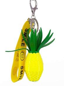 Pineapple Design Keychain
