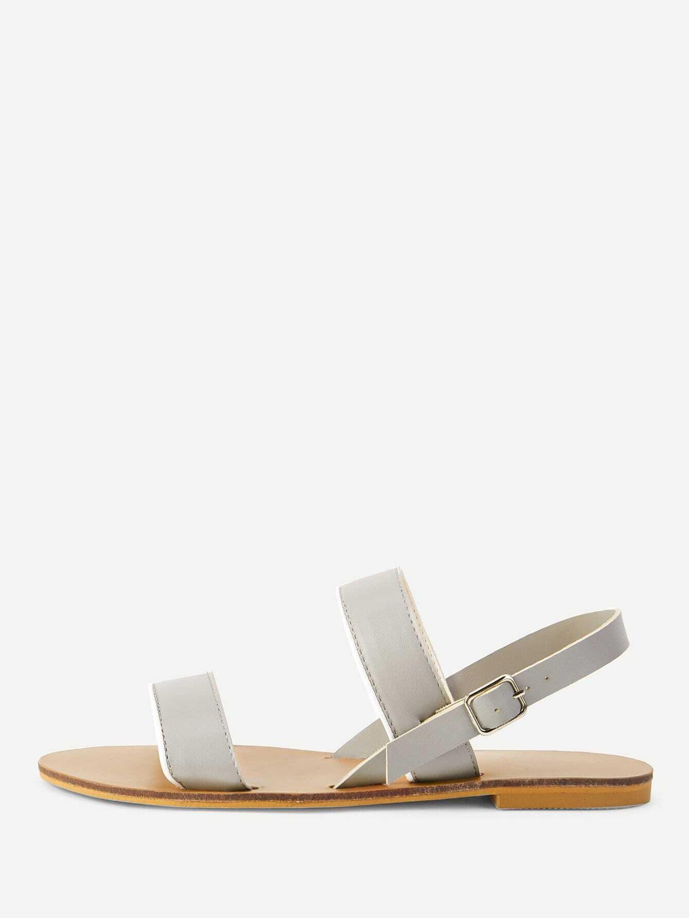 Strappy Design Flat Sandals metallic strappy flat sandals