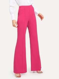 Slim Line Front Flared Pants