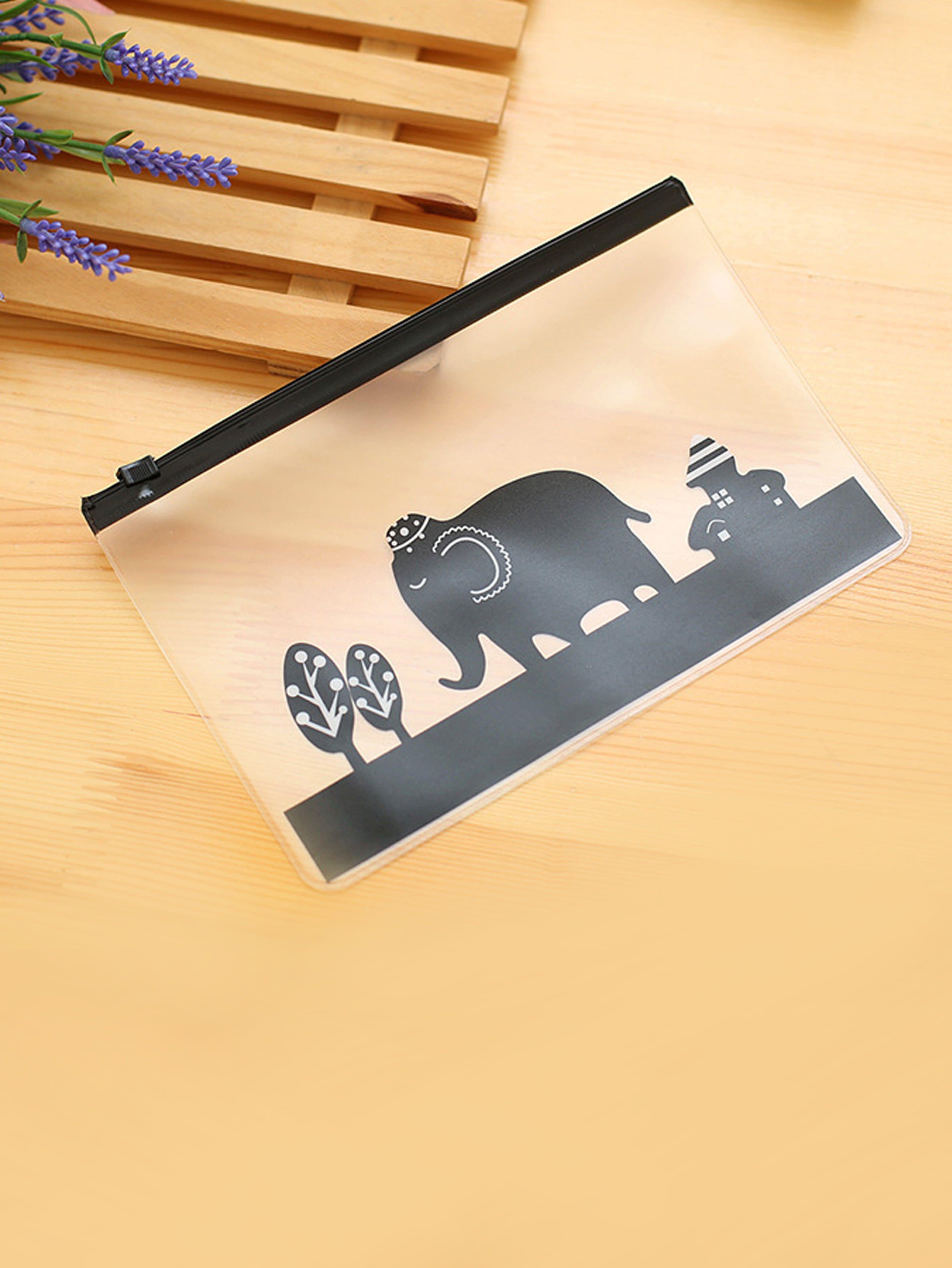 Cartoon Elephant Clear File Bag клей elephant dp270 dp 270 clear ab 50ml