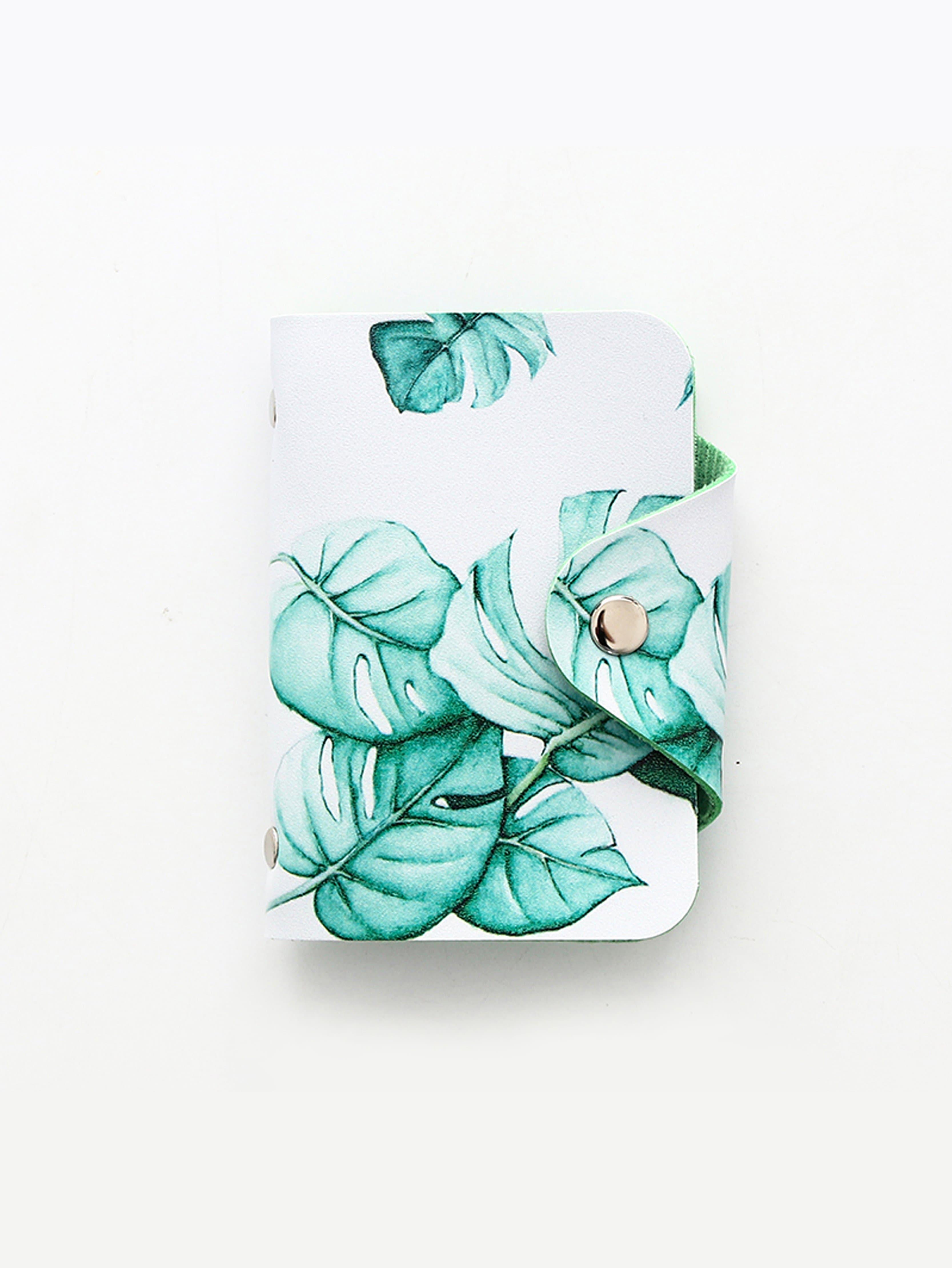 Tropical Print Card Holder