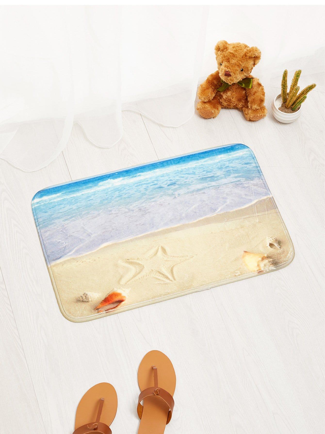 Sandy Beach Door Mat sandy beach door mat