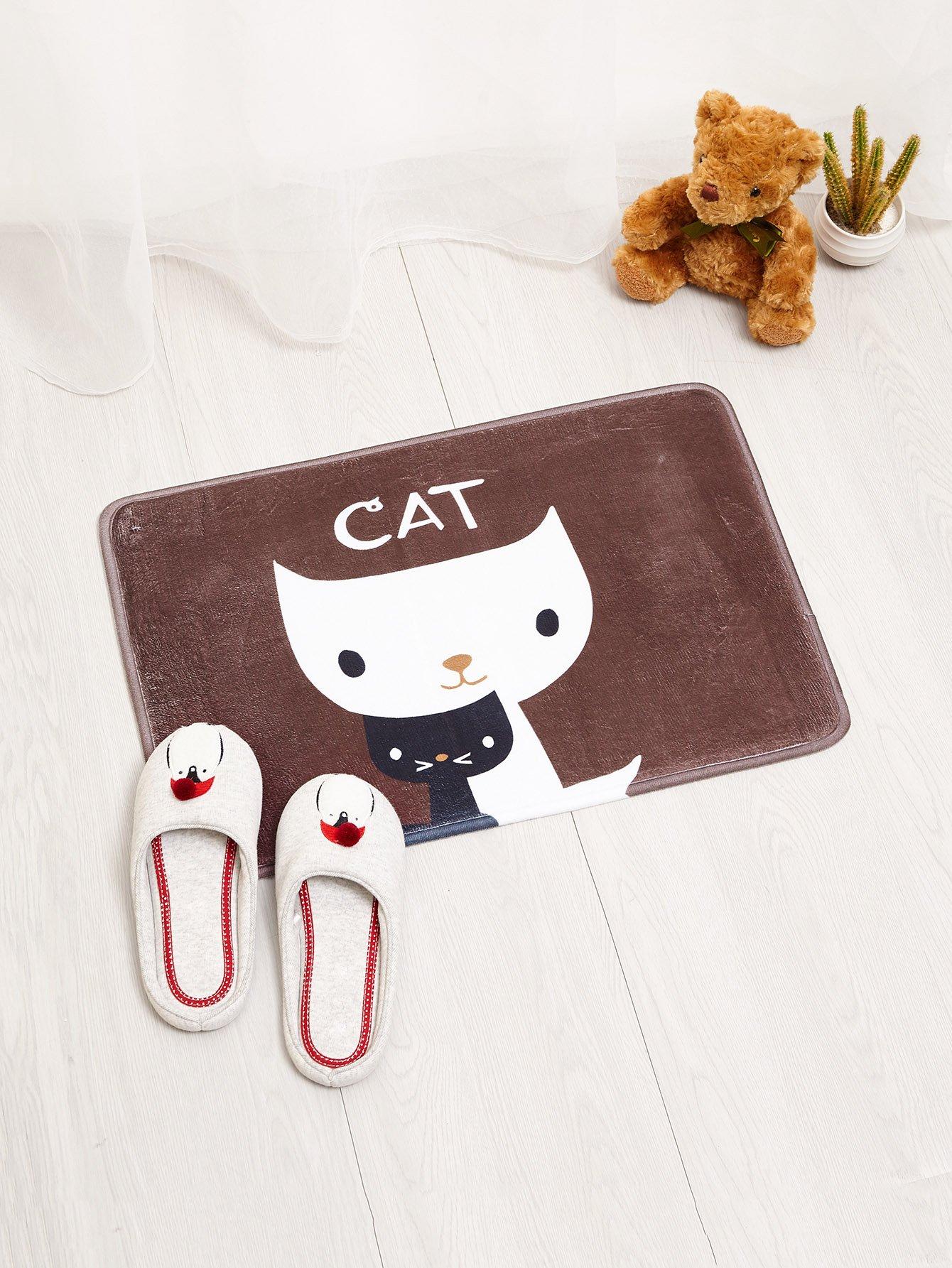Cat Print Door Mat все цены
