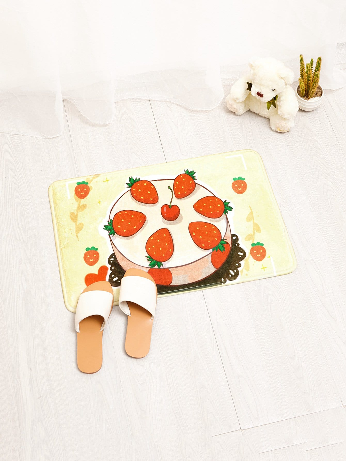 Strawberry Cake Door Mat sandy beach door mat