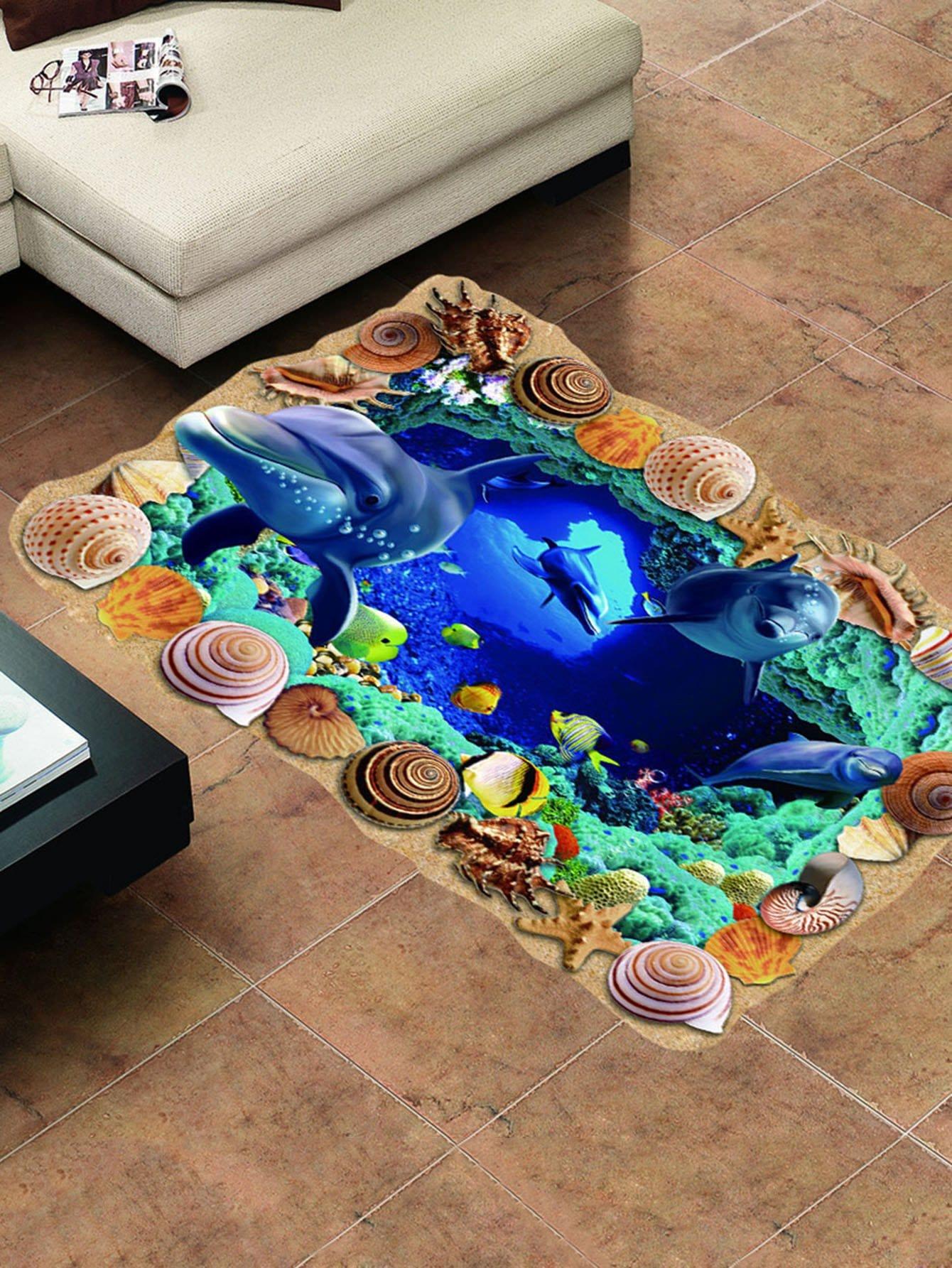Underwater World Floor Sticker underwater