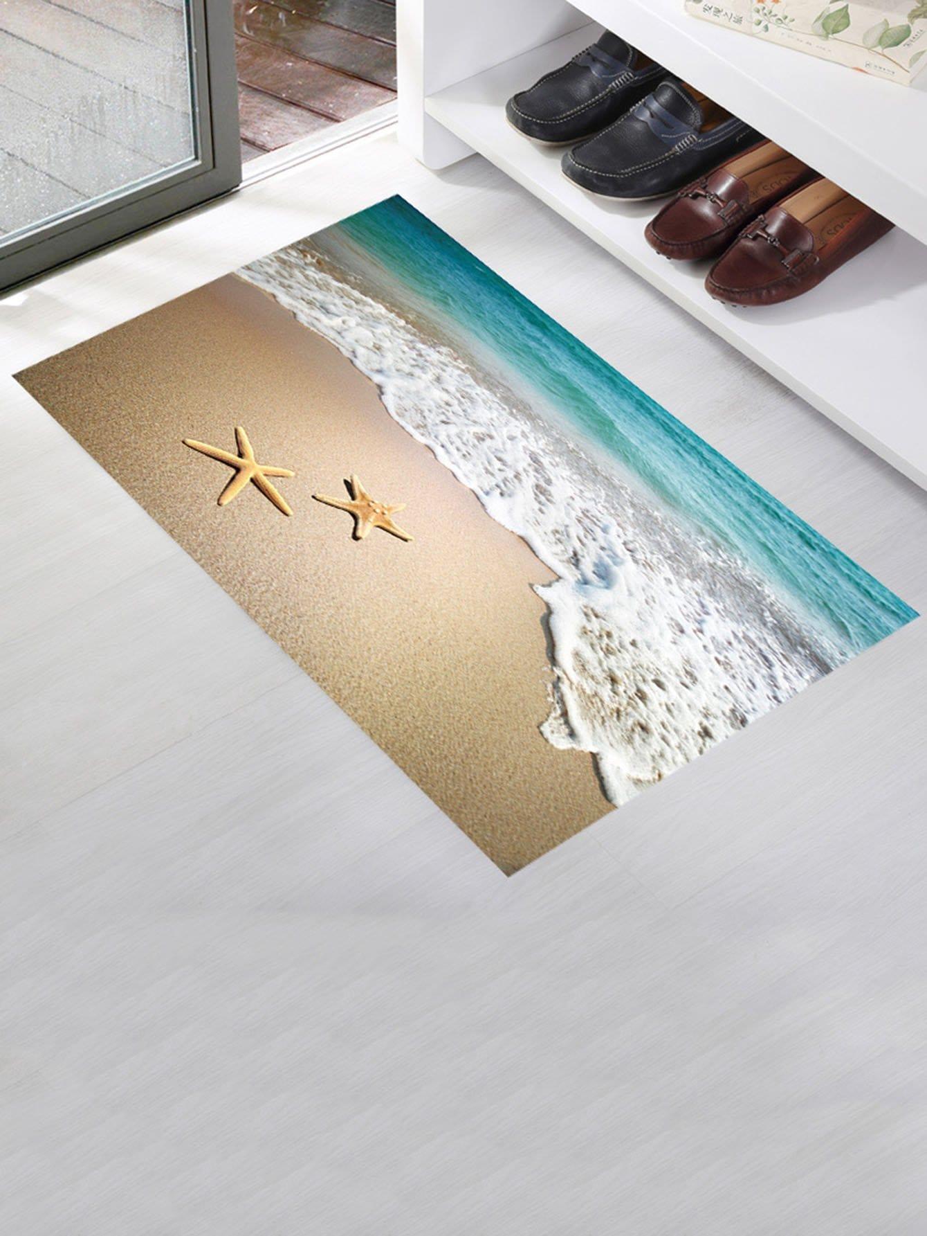 Sandy Beach Floor Sticker sandy beach door mat