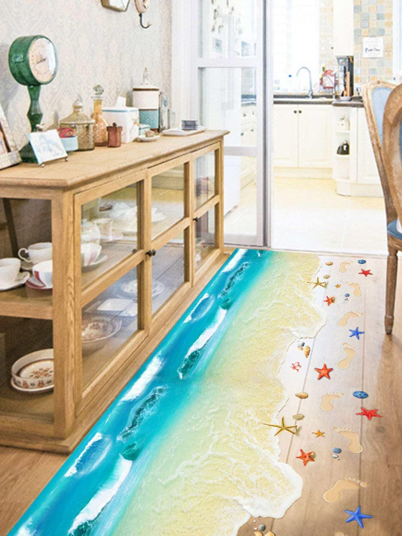 Sandy Beach Floor Decal sandy beach door mat