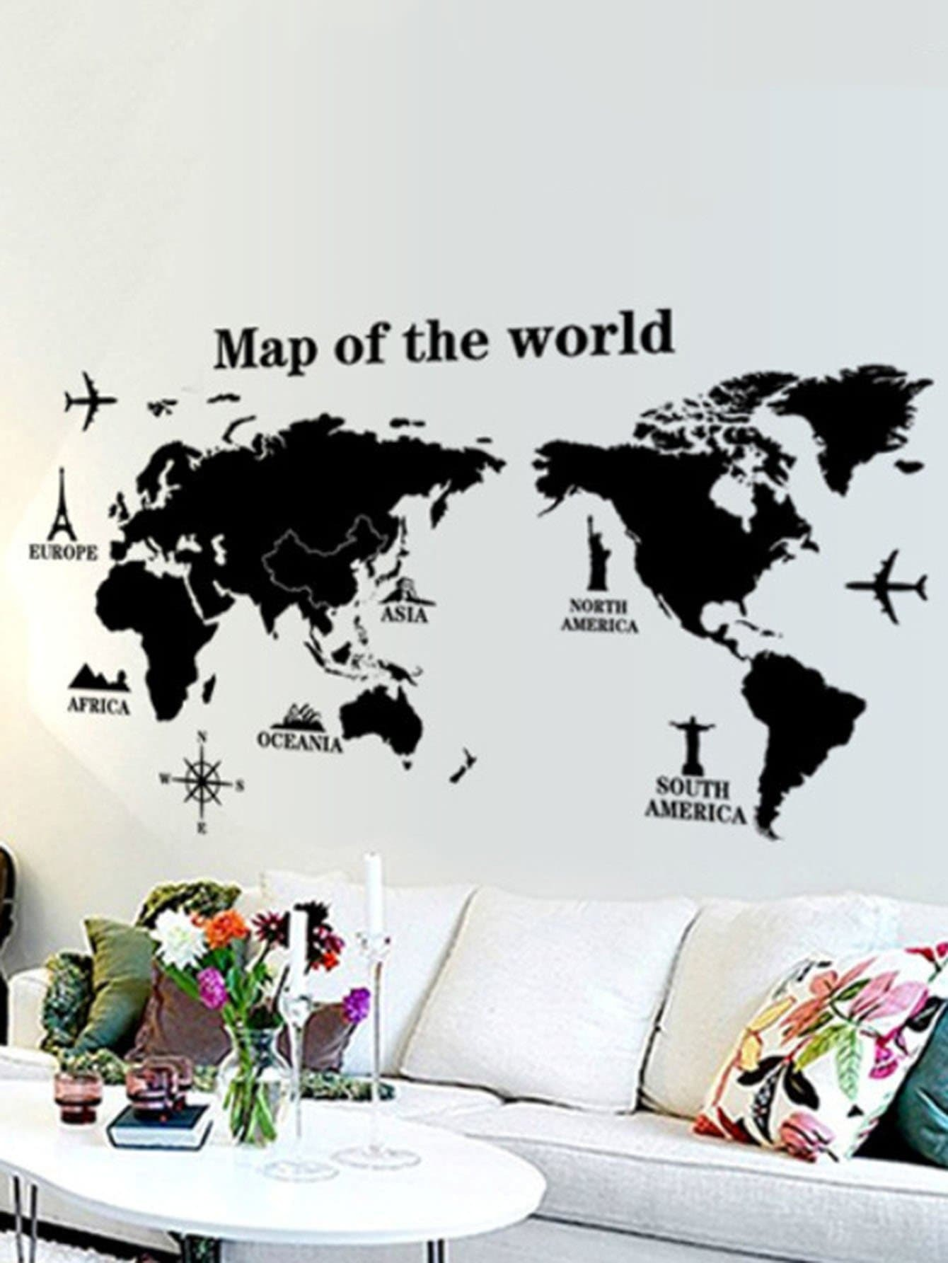 Map Of The World Wall Sticker first sticker book cities of the world
