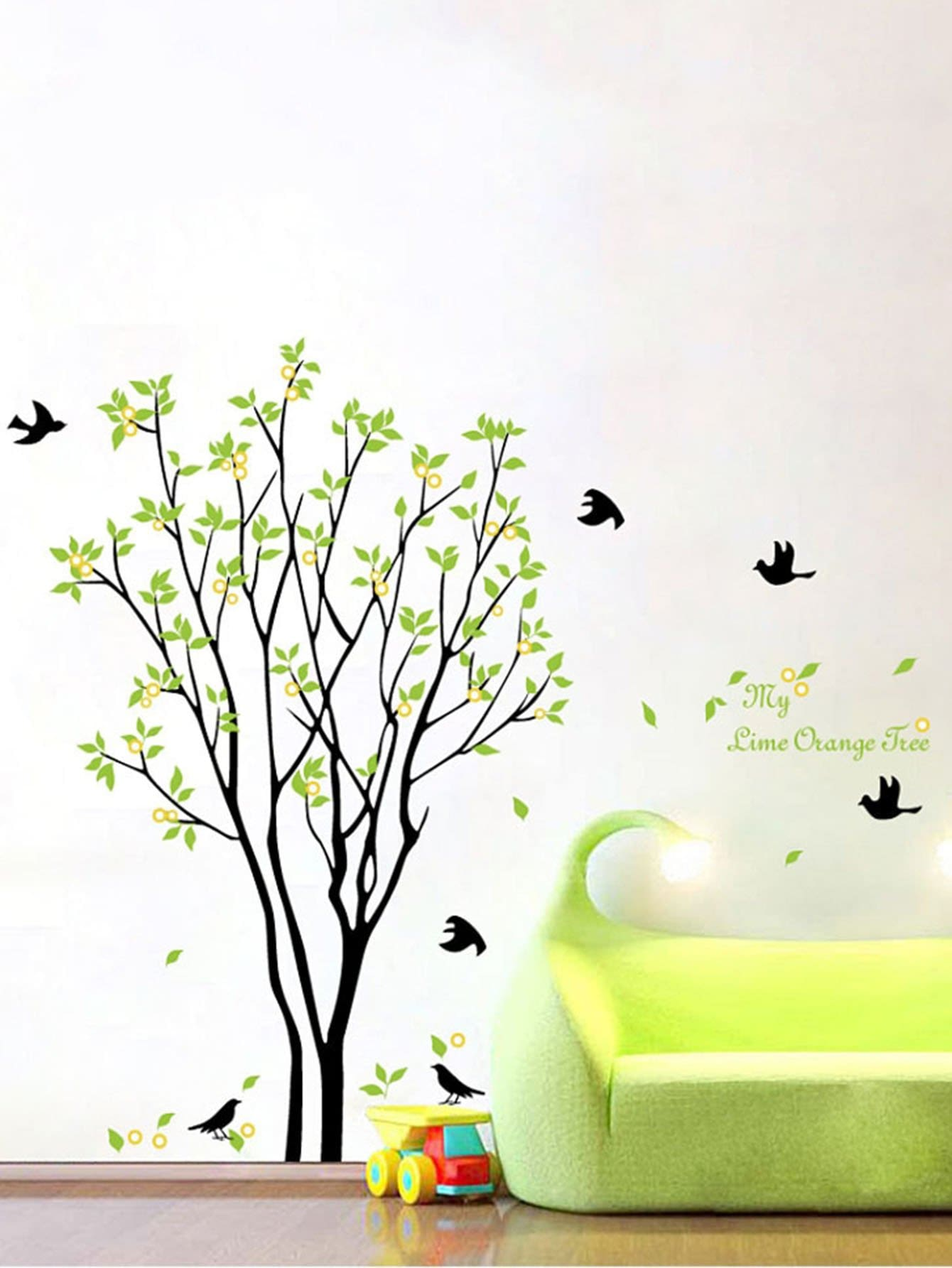Tree & Bird Wall Decal family wall quote removable wall stickers home decal art mural