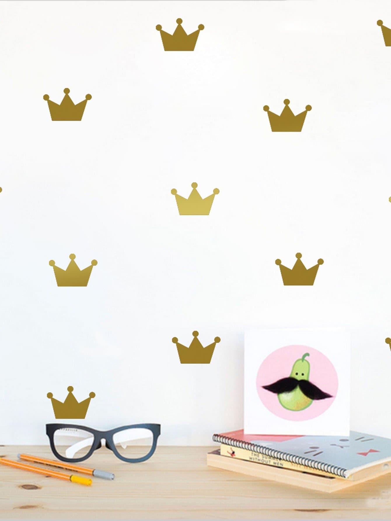Купить Комплект стикеров на стену корона, null, SheIn