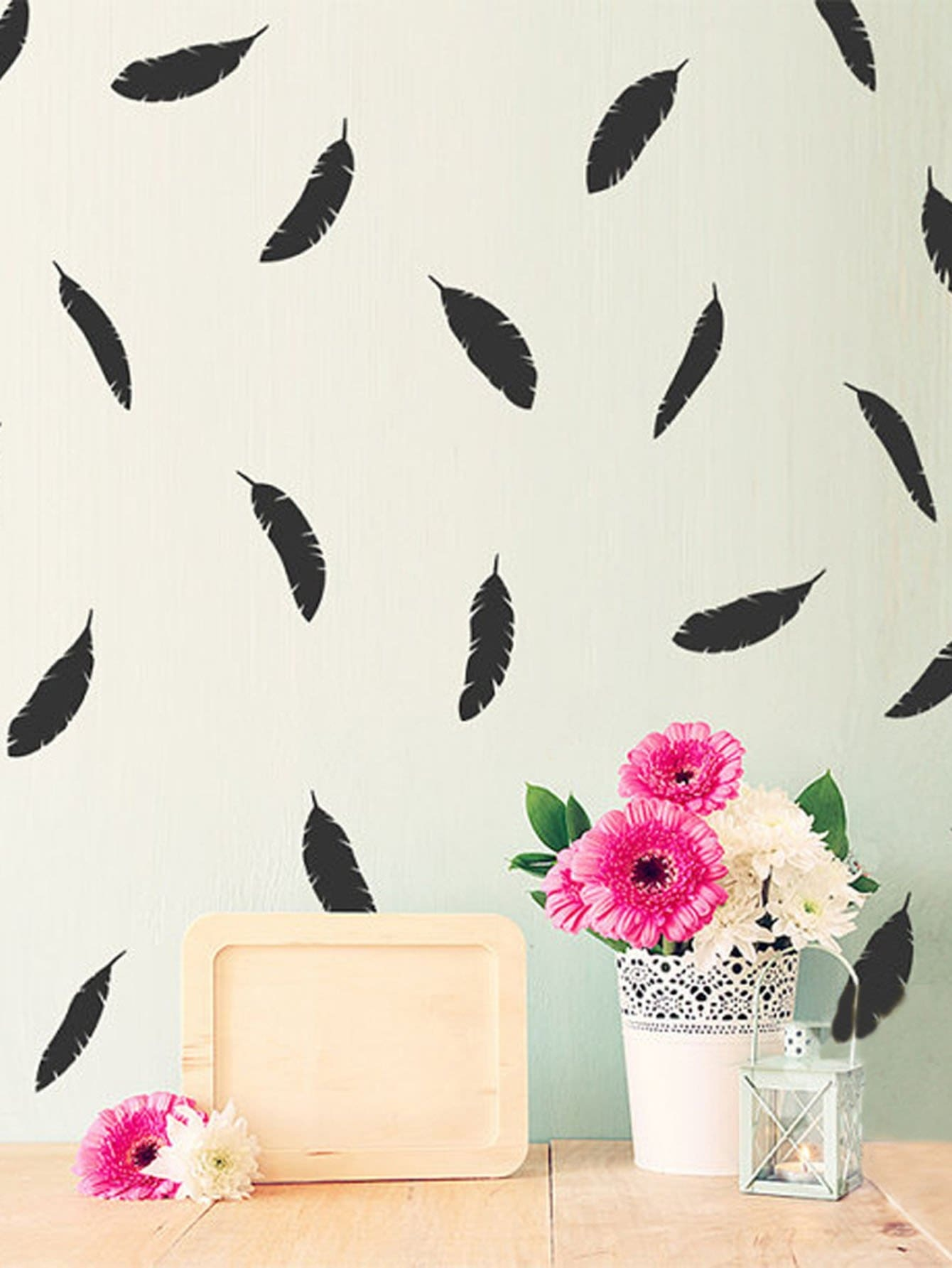 Feather Wall Sticker Pack oversized feather door sticker