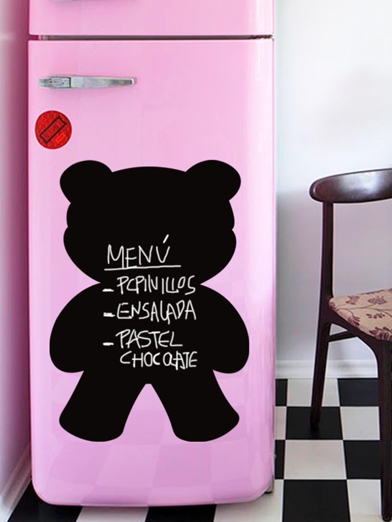 Cartoon Bear Blackboard Sticker
