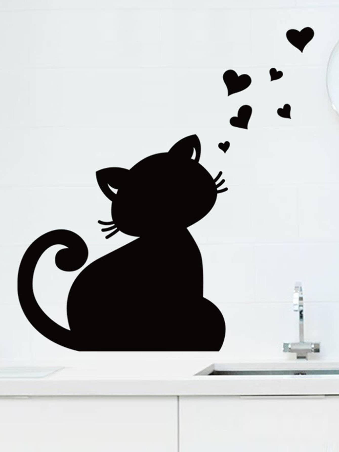 Cat Shaped Blackboard Sticker