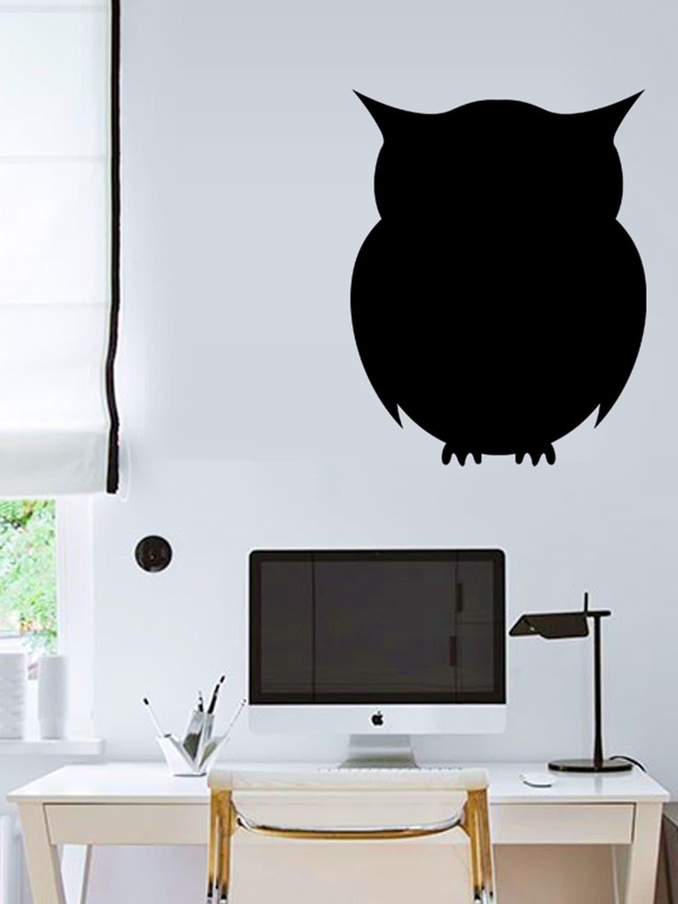 Owl Shaped Blackboard Sticker