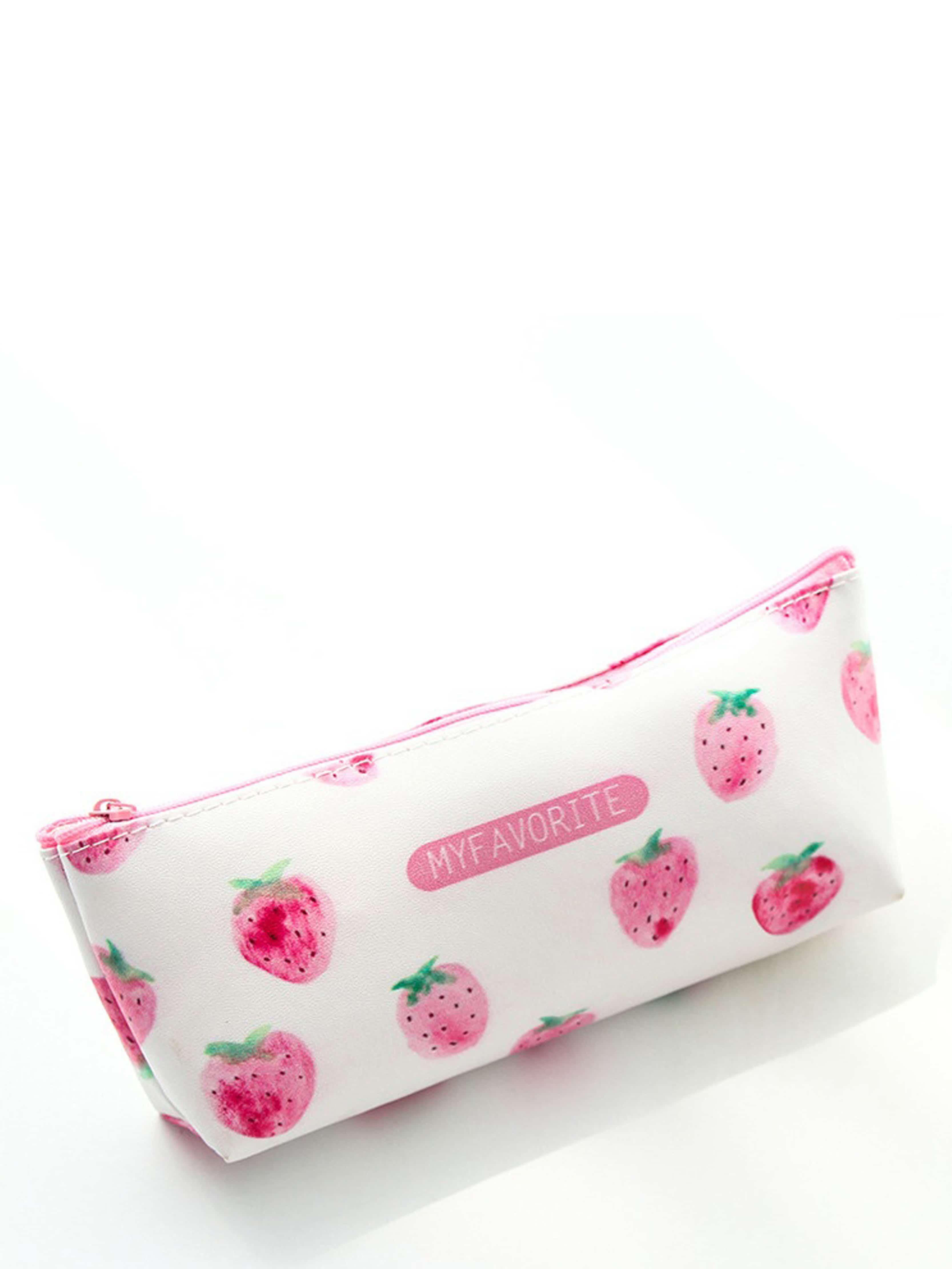 Strawberry Overlay Pencil Case strawberry overlay pencil case