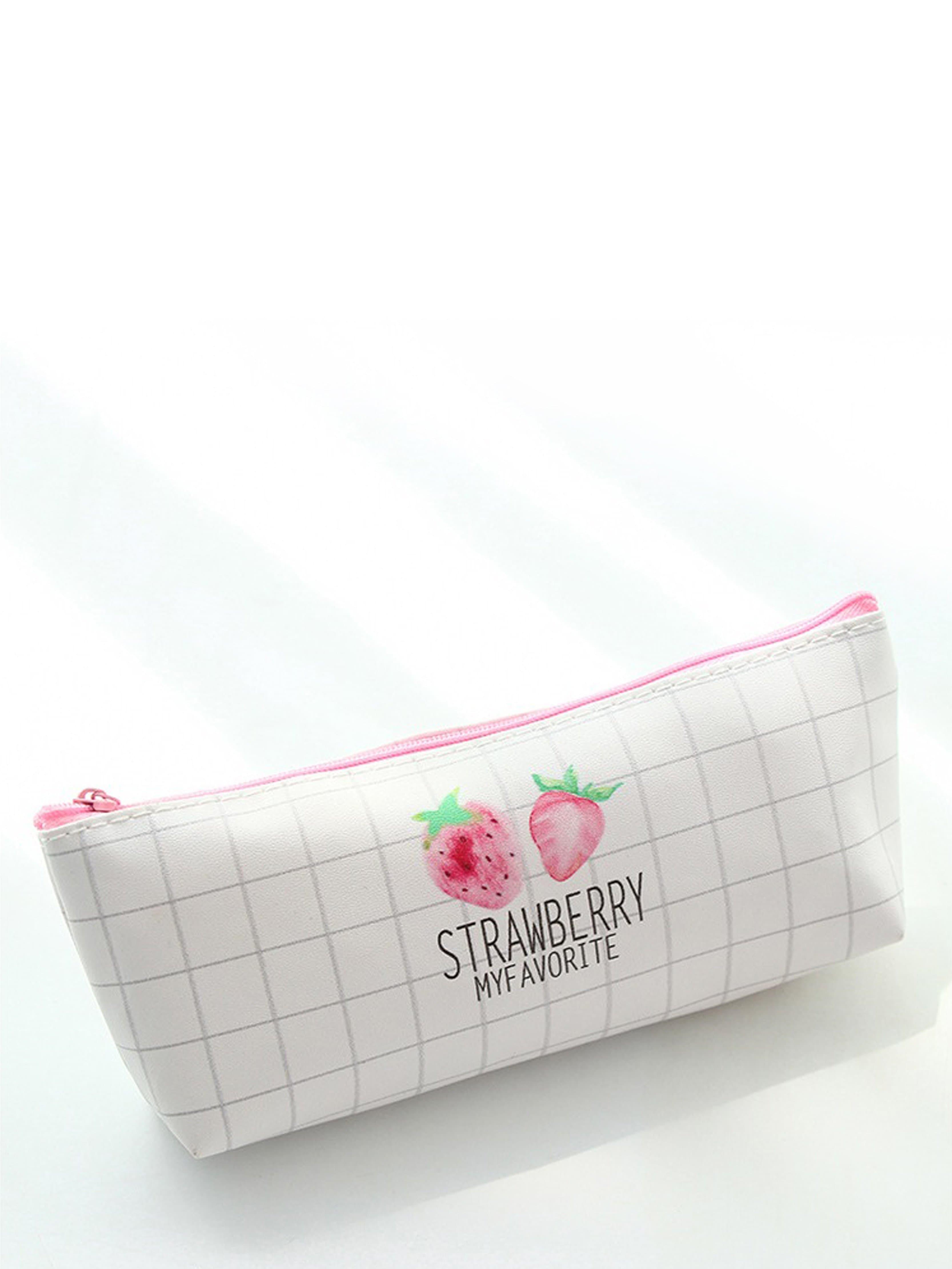 Strawberry Print Grid Pencil Case колесные диски replay vv151 6 5x16 5x112 d57 1 et50 s