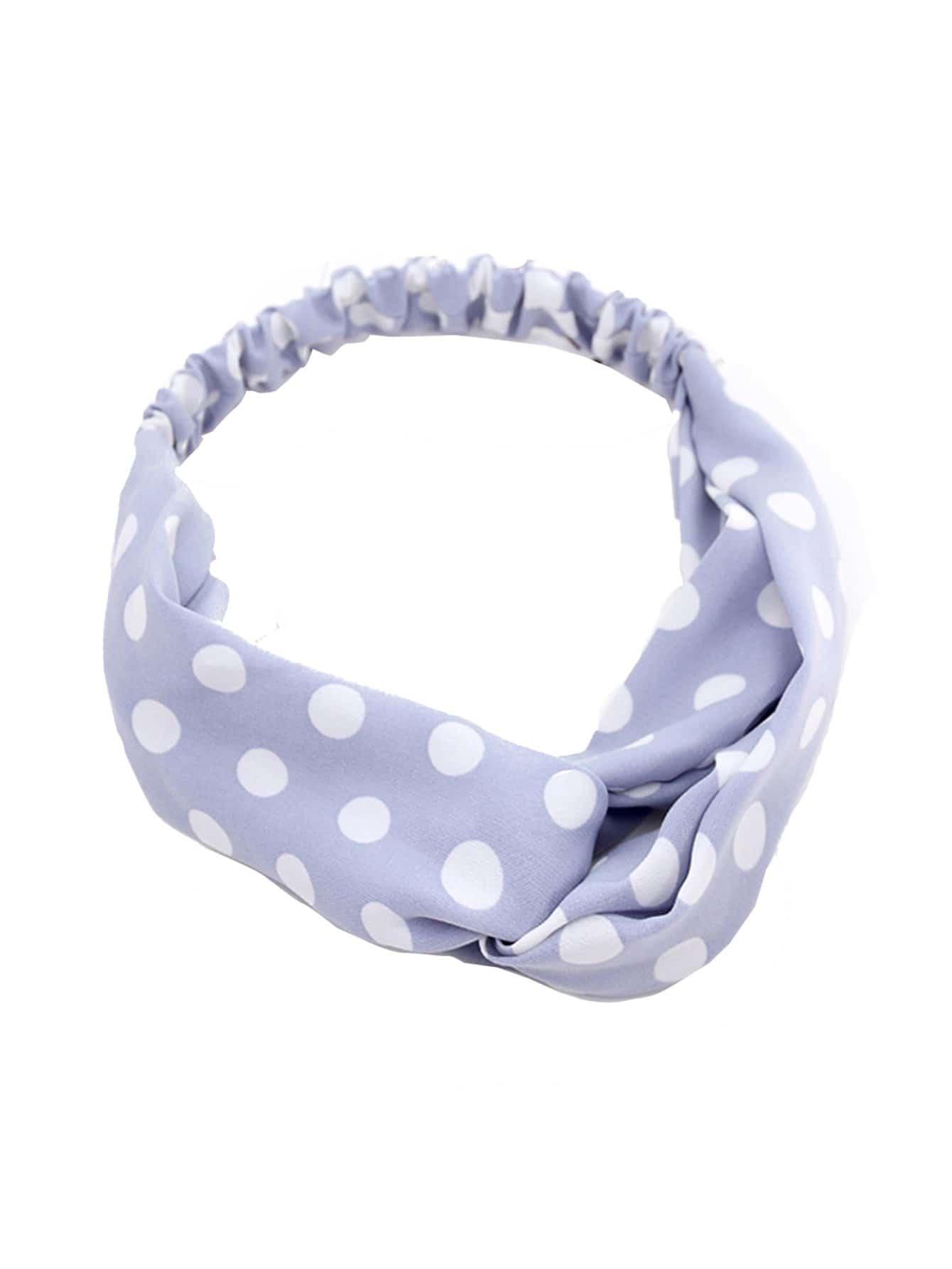 Polka Dot Twist Headband rib twist headband