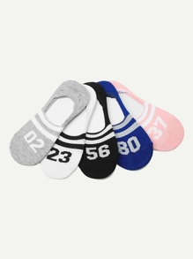 Figure Tape Invisible Socks 5pairs