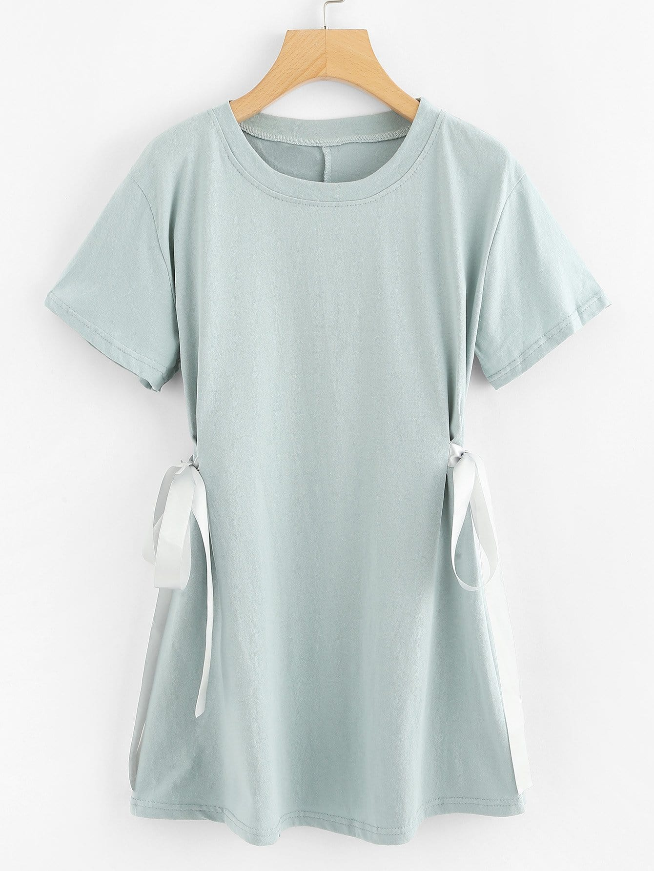 Cut And Sew Panel Knot Side Tee