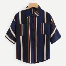 Dual Pocket Striped Shirt