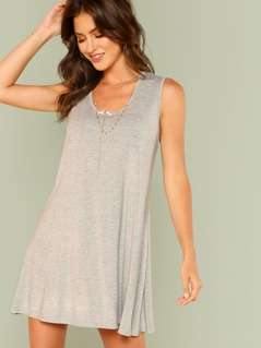 Solid Swing Tank Dress
