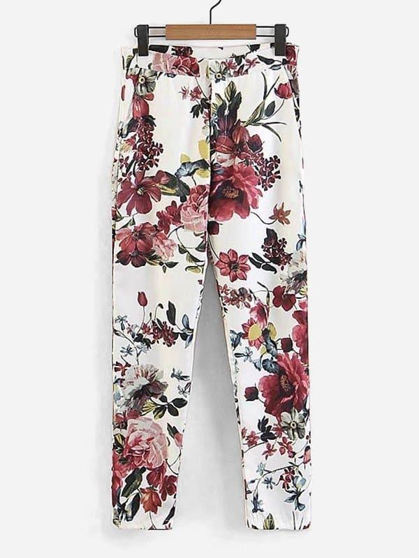 All Over Florals Pants all over florals dip hem shirt