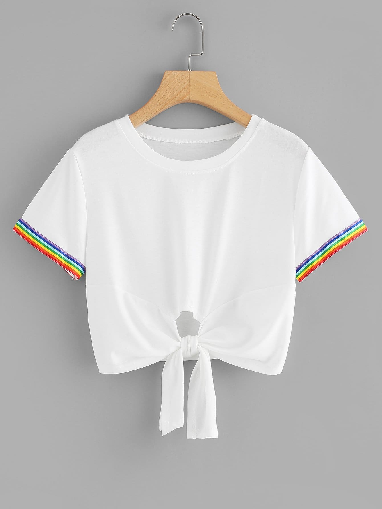 Knot Front Crop Tee knot front tee