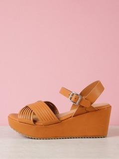 Sling Back Strappy Wedge Sandal