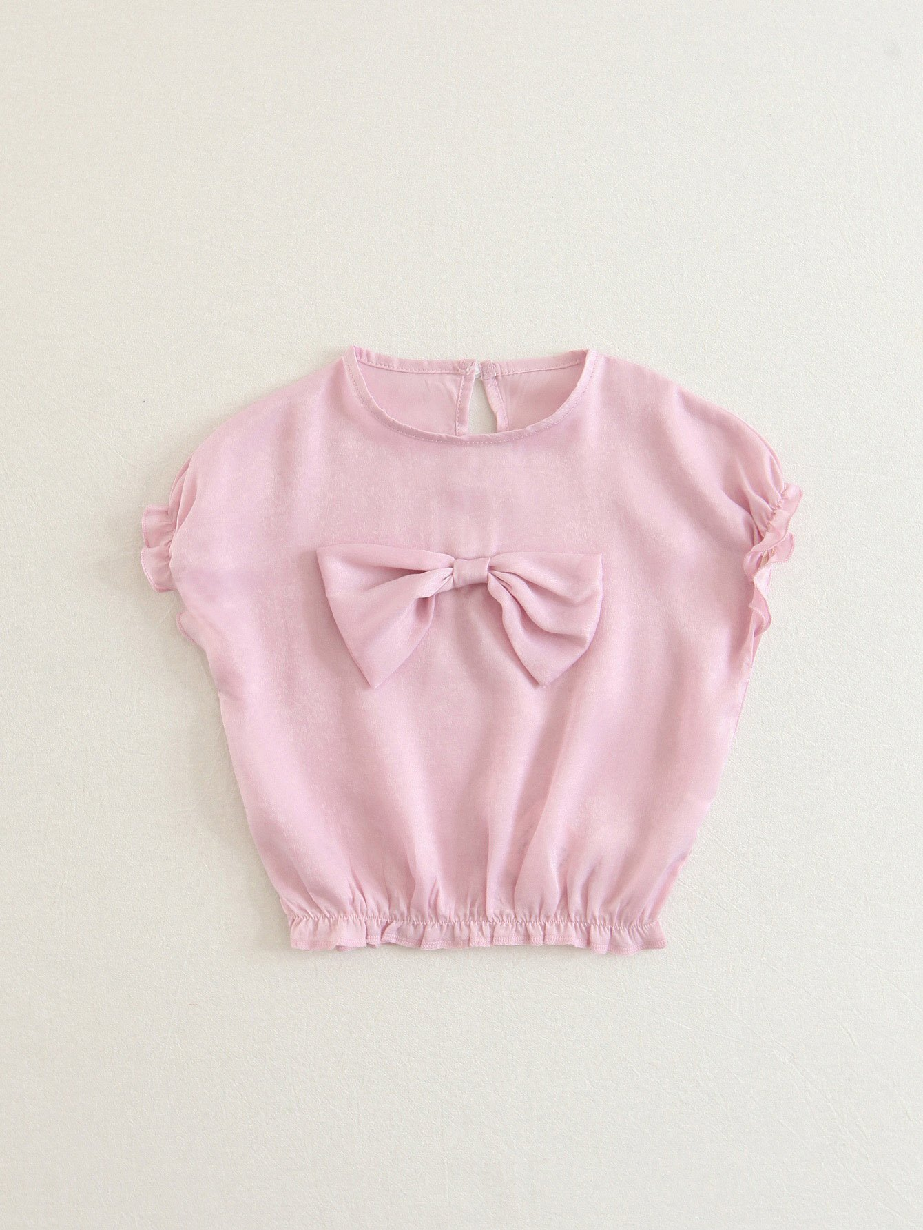 Bow Detail Frill Trim Blouse pearl beading frill detail sweatshirt