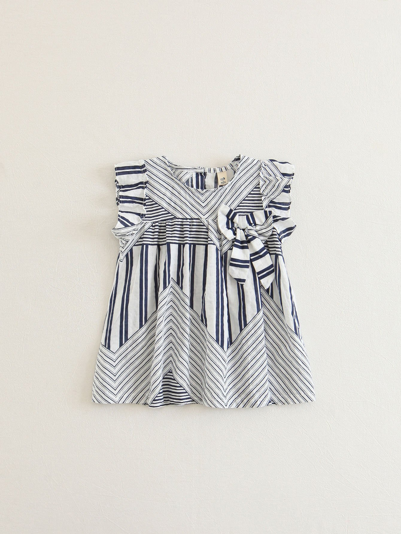 Bow Detail Striped Dress bow detail longline dress