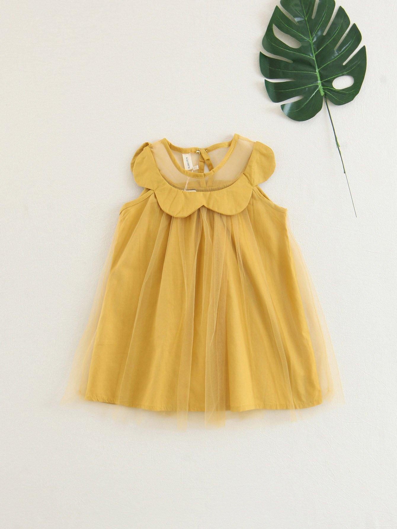 Mesh Overlay Dress applique mesh overlay fit