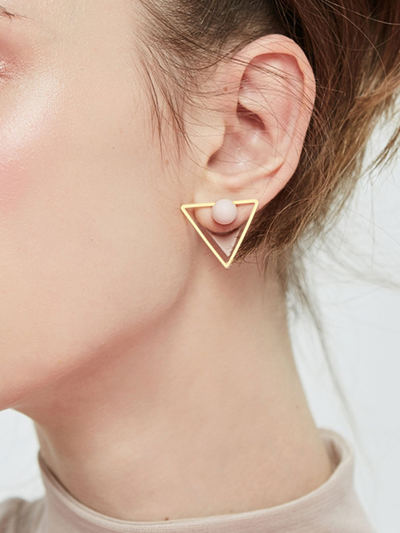 Triangle Design Double Stud Earrings botticelli низкие кеды и кроссовки