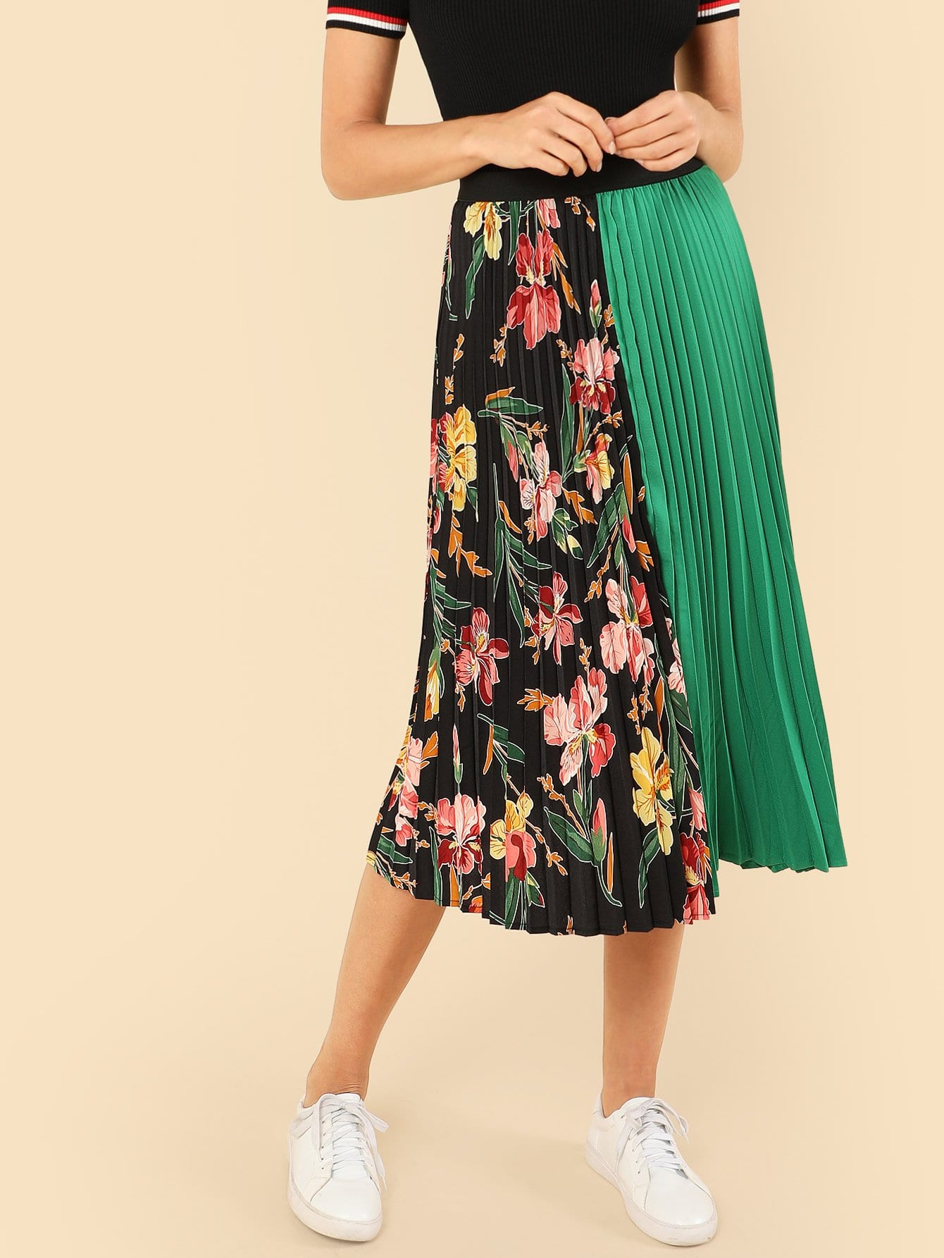 Cut And Sew Pleated Skirt new lone wolf and cub v 7