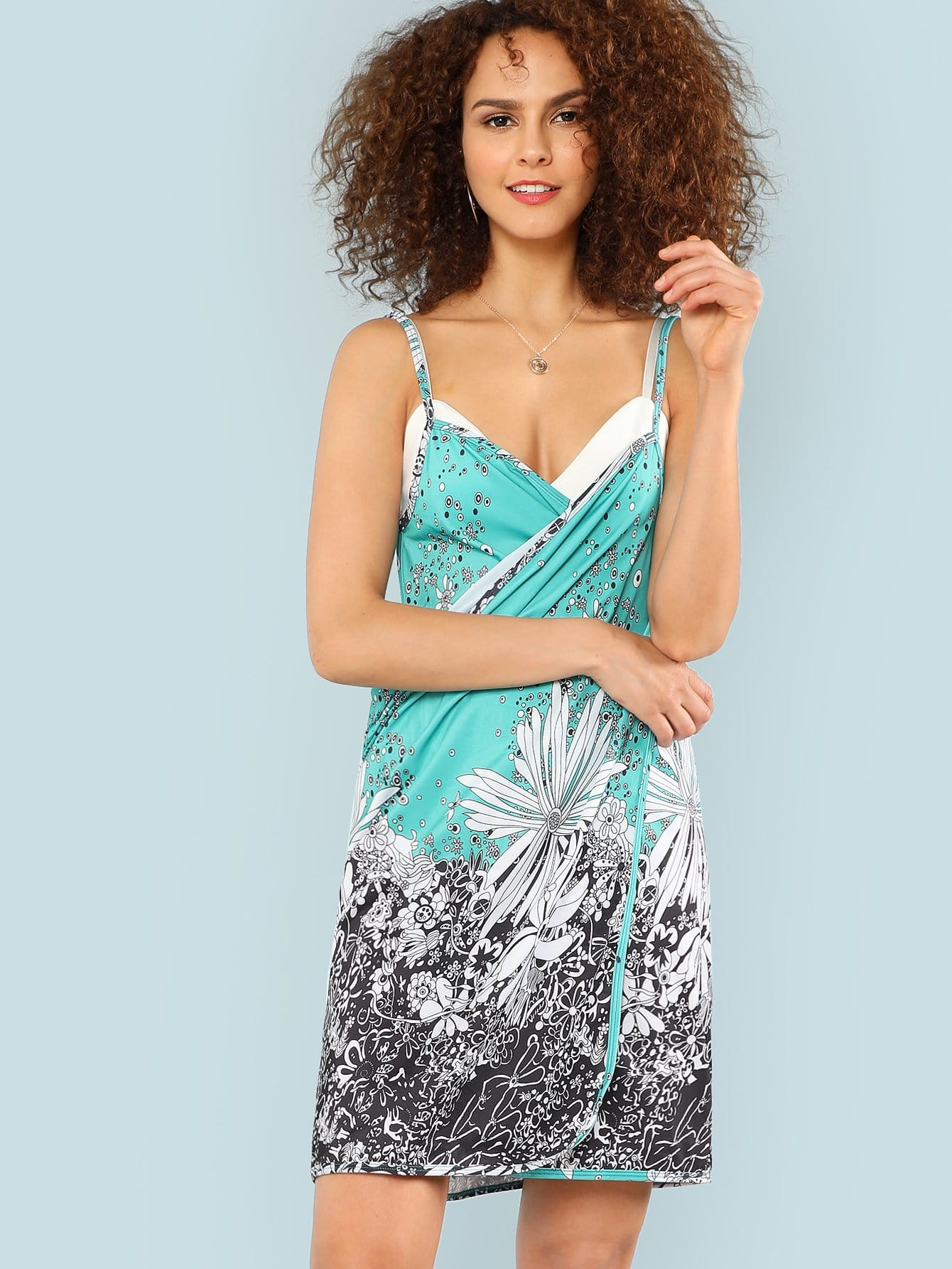 Flower Print Wrap Cover Up flower print cover up