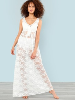 Knot Front Maxi Cover Up