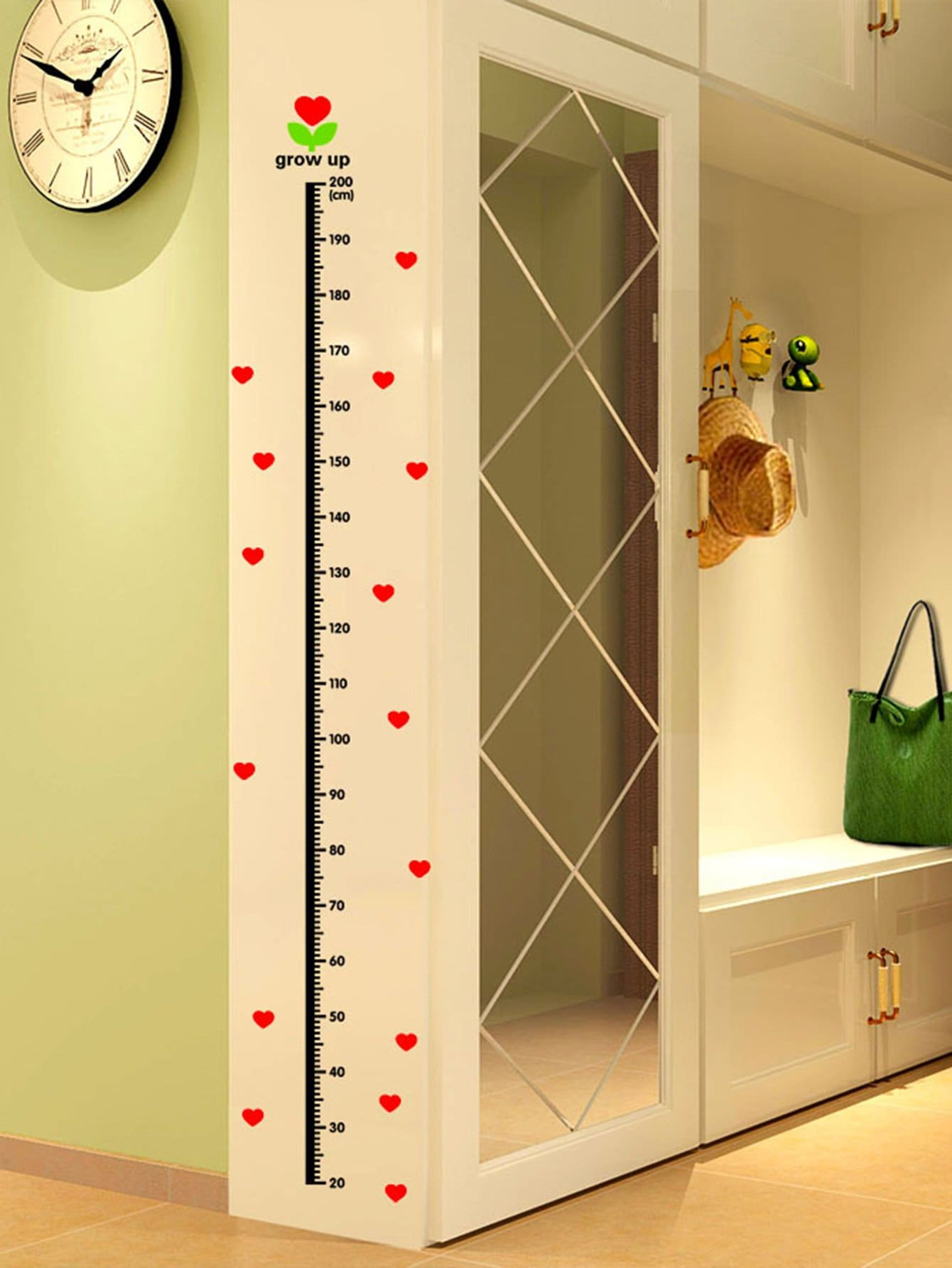 Height Chart Wall Sticker chart throb
